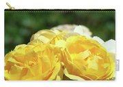 Roses Art Prints Canvas Sunlit Yellow Rose Flowers Baslee Troutman Carry-all Pouch