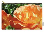 Roses Art Prints Orange Rose Flower 11 Giclee Prints Baslee Troutman Carry-all Pouch