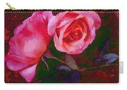 Roses Beautiful Pink Vegged Out Carry-all Pouch