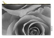 Roses Black And White Carry-all Pouch