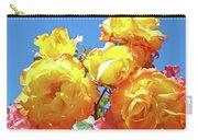 Roses Garden Summer Art Print Blue Sky Yellow Orange Carry-all Pouch