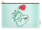 Roses Hearts And Lace Flowers Design  Carry-all Pouch