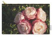 Roses In A Vase,on The Grass Carry-all Pouch
