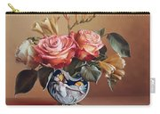 Roses In China Vase Carry-all Pouch
