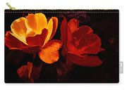 Roses In Molten Gold Art Carry-all Pouch