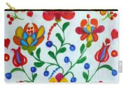 Roses In The Folk Style Carry-all Pouch