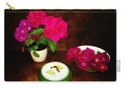 Roses In Vase And Bowl Carry-all Pouch