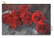 Roses On Lace Carry-all Pouch