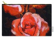 Roses Painted And Drawn Carry-all Pouch