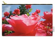 Roses Pink Rose Landscape Summer Blue Sky Art Prints Baslee Troutman Carry-all Pouch