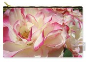 Roses Pink White Rose Flowers 4 Rose Garden Artwork Baslee Troutman Carry-all Pouch