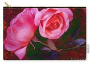 Roses Silked Pink Vegged Out Carry-all Pouch