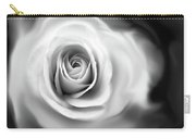 Rose's Whisper Black And White Carry-all Pouch