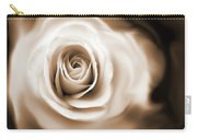 Rose's Whisper Sepia Carry-all Pouch