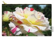 Roses White Pink Yellow Rose Flowers 3 Rose Garden Art Baslee Troutman Carry-all Pouch