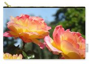 Roses Yellow Roses Pink Summer Roses 4 Blue Sky Landscape Baslee Troutman Carry-all Pouch