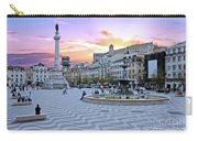 Rossio Square In Lisbon Portugal At Sunset Carry-all Pouch