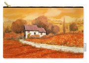 Rosso Papavero Carry-all Pouch by Guido Borelli
