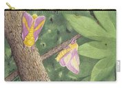 Rosy Maple Moth Gathering Carry-all Pouch