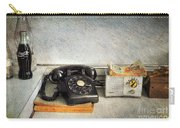 Rotary Dial Phone In Black S And H Stamps Carry-all Pouch