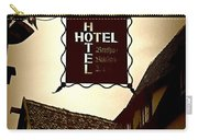 Rothenburg Hotel Sign - Digital Carry-all Pouch