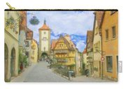 Rothenburg Watercolor Study Carry-all Pouch