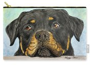 Rottweiler's Sweet Face 2 Carry-all Pouch