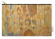 Rouen Cathedral, Facade, Sunset Carry-all Pouch