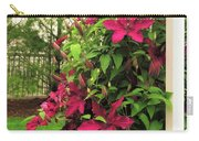 Rouge Cardinal Clematis 2 Carry-all Pouch