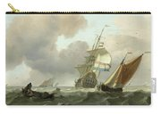 Rough Sea With Ships Carry-all Pouch