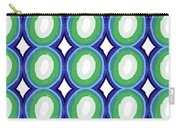 Round And Round Blue And Green- Art By Linda Woods Carry-all Pouch