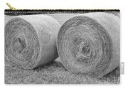 Round Hay Bales Black And White  Carry-all Pouch by James BO  Insogna
