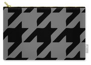 Rounded Houndstooth Black Pattern 03-p0123 Carry-all Pouch