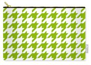 Rounded Houndstooth White Background 09-p0123 Carry-all Pouch