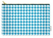 Rounded Houndstooth White Background 18-p0123 Carry-all Pouch