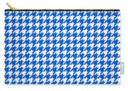 Rounded Houndstooth White Pattern 18-p0123 Carry-all Pouch