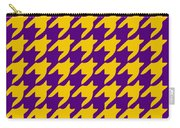 Rounded Houndstooth With Border In Mustard Carry-all Pouch