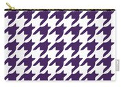 Rounded Houndstooth With Border In Purple Carry-all Pouch