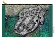 Route 66 Digital Stained Glass Carry-all Pouch
