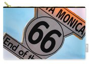 Route 66 End Of The Trail Carry-all Pouch by Michael Hope