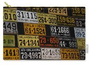 Route 66 Oklahoma Car Tags Carry-all Pouch