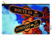 Route 66 Street Sign Stylized Colors Carry-all Pouch
