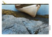 Row Boat On Shore Carry-all Pouch