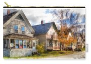 Row Of Houses Hardwick Vermont Watercolor Carry-all Pouch
