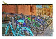 Row Of Student Bikes At Princeton University Nj Carry-all Pouch
