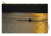 Rowing At Sunset Carry-all Pouch by Bill Cannon