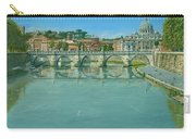 Rowing On The Tiber Rome Carry-all Pouch