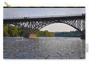 Rowing Under The Strawberry Mansion Bridge Carry-all Pouch by Bill Cannon