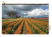 Rows Of Colorful Tulips At Festival Carry-all Pouch