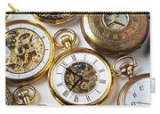 Rows Of Pocket Watches Carry-all Pouch by Garry Gay